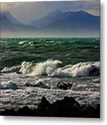 Rough Seas Kaikoura New Zealand Metal Print