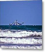 Rough Seas Shrimping Metal Print