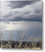 Rough Skys Over Colorado Plateau Metal Print
