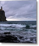 Rough Surf At Split Rock Metal Print