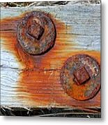 Round And Rusted Metal Print