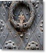 Round Metal Doorknob Metal Print