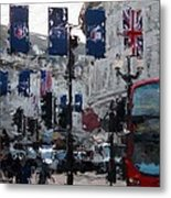 Round The Piccadilly Metal Print