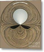 Round Wood Metal Print
