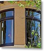 Rounded Victorian Window Metal Print