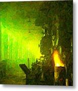 Roundhouse Morning Metal Print