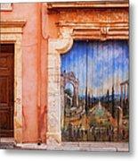 Roussillon Door Metal Print
