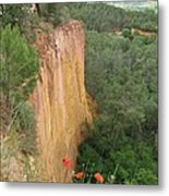 Roussillon Red Rock Landscape Metal Print