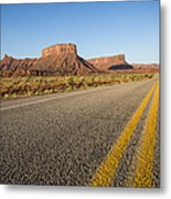 Route 128 Near Castle Valley Metal Print