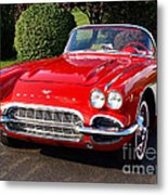Route 66 - 1961 Corvette Metal Print