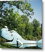 Route 66 Blue Whale Waterpark Metal Print