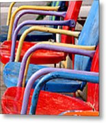 Route 66 Chairs Metal Print