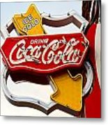 Route 66 Coca Cola Metal Print