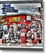 Route 66 Collage Metal Print