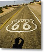 Route 66 Daggett California Metal Print