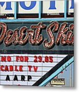 Route 66 - Desert Skies Motel Metal Print