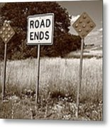 Route 66 - End Of The Road Metal Print