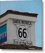 Route 66 - End Of The Trail Metal Print by Kim Hojnacki