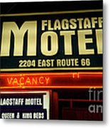 Route 66 Flagstaff Motel Metal Print