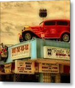 Route 66   Hdr Metal Print