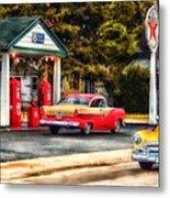 Route 66 Historic Texaco Gas Station Metal Print