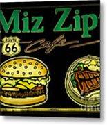 Route 66 Miz Zips Metal Print