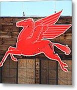 Route 66 - Mobil Pegasus Metal Print