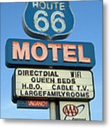 Route 66 Motel Sign 3 Metal Print