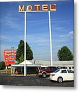 Route 66 - Munger Moss Motel Metal Print