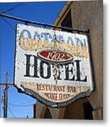 Route 66 - Oatman Hotel Metal Print