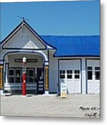 Route 66 Odell Il Gas Station 01 Metal Print