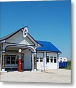 Route 66 Odell Il Gas Station 02 Metal Print