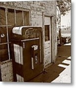 Route 66 - Rusty Coke Machine 2 Metal Print