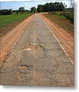Route 66 - Sidewalk Highway Metal Print