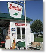 Route 66 - Sinclair Station Metal Print