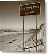 Route 66 - Sitgreaves Pass Metal Print