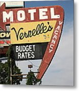 Route 66 - Vernelle's Motel Metal Print