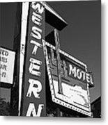 Route 66 - Western Motel 7 Metal Print