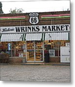 Route 66 - Wrink's Market Metal Print