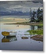 Row Boat By Mount Desert Island Metal Print