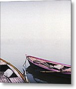 Row Boats In A River, Ganges River Metal Print