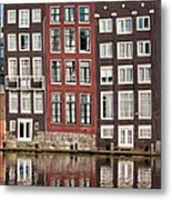 Row Houses In Amsterdam Metal Print