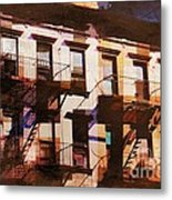 Row Houses - Old Buildings And Architecture Of New York City Metal Print
