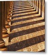 Row Of Pillars Metal Print by Garry Gay