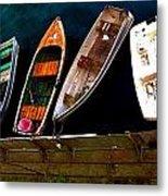 Row Of Rowboats  Metal Print