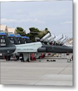 Row Of T-38c Trainer Jets At Nellis Air Metal Print