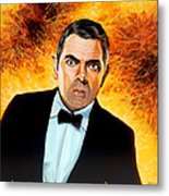 Rowan Atkinson Alias Johnny English Metal Print