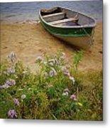 Rowboat And Asters Metal Print