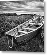 Rowboat At Prospect Point - Black And White Metal Print