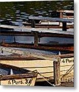 Rowboats At A Lake Metal Print